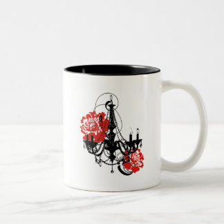 Chandelier Romance Two-Tone Coffee Mug