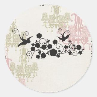 Chandelier Round Sticker