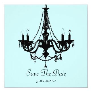 Chandelier Save the Date! (Personalize the color!) 13 Cm X 13 Cm Square Invitation Card