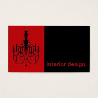 Chandelier Silhouette Icon - interior design Business Card