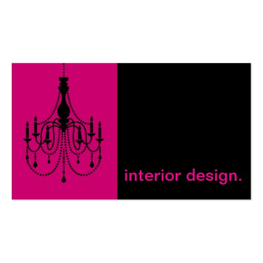 chandelier silhouette icon interior design business card