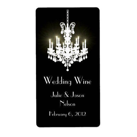 Chandelier Wedding Mini Wine Labels