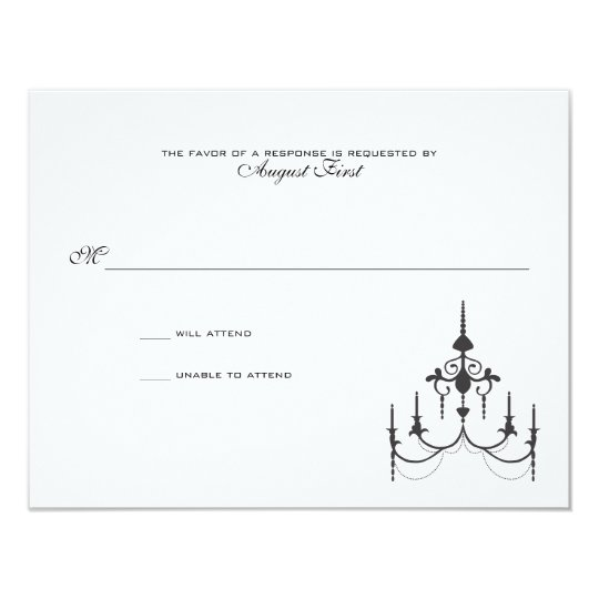 Chandelier Wedding Response Card