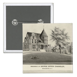 Chandler residence, Manchester, NH 15 Cm Square Badge
