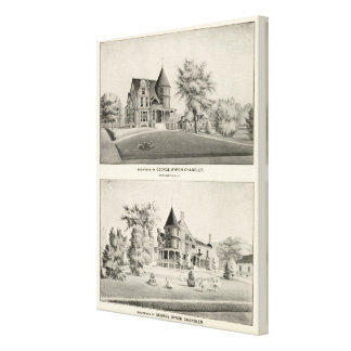 Chandler residence, Manchester, NH Canvas Print
