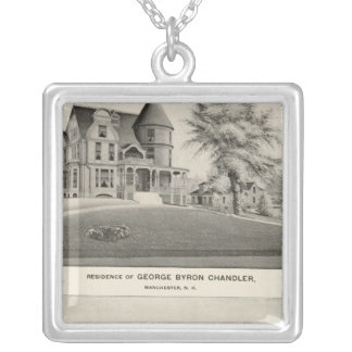 Chandler residence, Manchester, NH Silver Plated Necklace