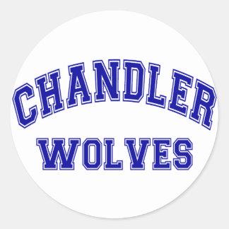 Chandler Wolves Round Sticker