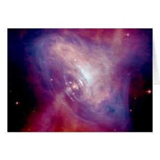 Chandra Crab Nebula NASA Card