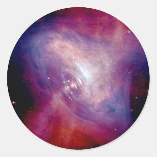 Chandra Crab Nebula Round Sticker
