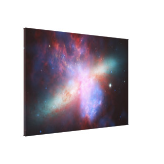 Chandra:Hubble:Spitzer X-ray:Visible:Infrared Gallery Wrapped Canvas