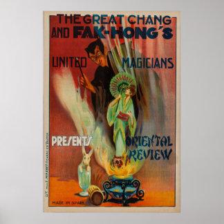 Chang and Fak Hong's Oriental Review Magic Poster