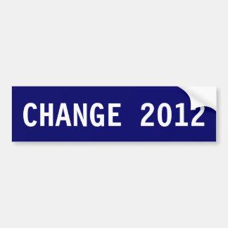 CHANGE 2012 Bumper Sticker