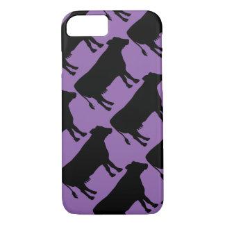 Change background Black Cow iPhone 7 Case