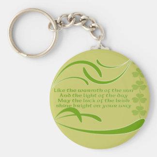 Change Background Color -Irish Blessing Basic Round Button Key Ring