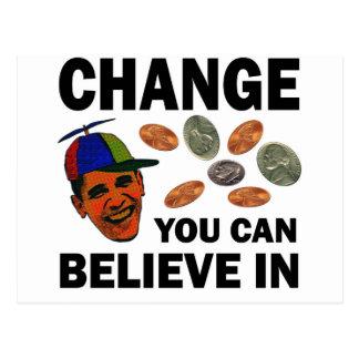 Change Believe Postcard