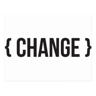 Change - Bracketed - Black and White Postcard