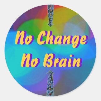 Change Brain Round Sticker
