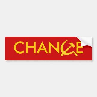 CHANGE CAR BUMPER STICKER