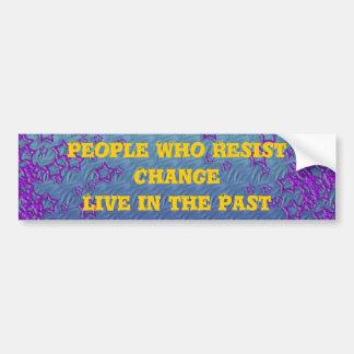 Change bumper sticker