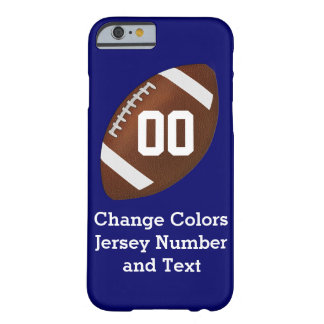 Change COLORS and TEXT on Football iPhone 6 Case Barely There iPhone 6 Case