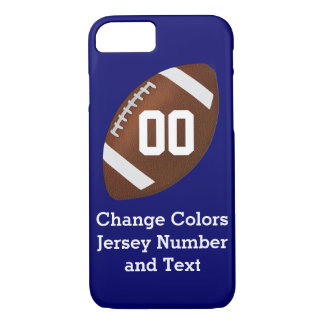 Change COLORS and TEXT on Football iPhone 7 Case