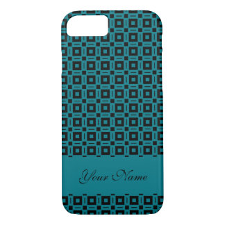 Change Colors! Funky Retro Squares Dots Pattern iPhone 7 Case