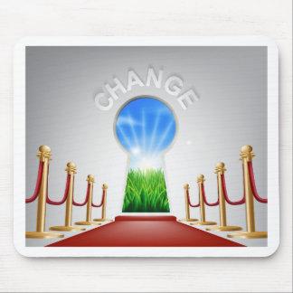 Change conceptual illustration mouse mat