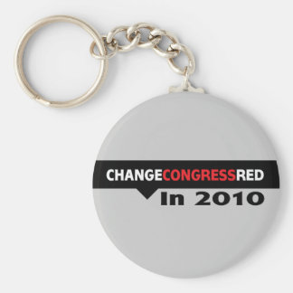 Change Congress Red in 2010 Basic Round Button Key Ring