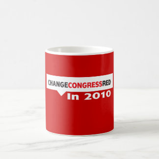 Change Congress Red in 2010 Coffee Mugs