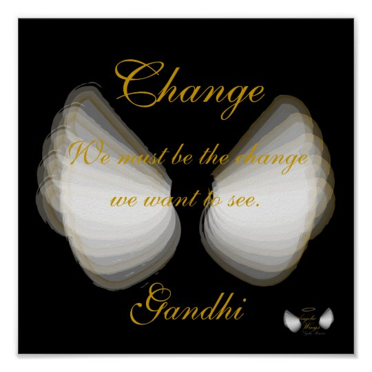 Change, Gandhi's Quote Poster,- Customise Poster