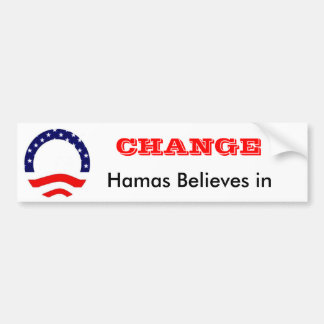 Change Hamas believes in Bumper Sticker