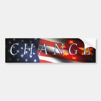 Change has come bumper sticker