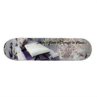Change in Plans Snow Covered Picnic Table, Pines 20.6 Cm Skateboard Deck