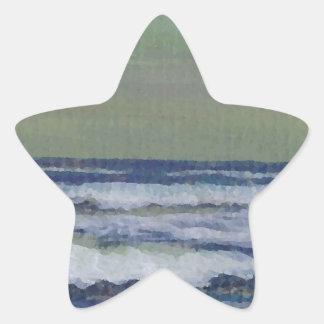 Change in the Weather Ocean Waves Storm Seascape Star Sticker