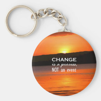 Change Is A Process Basic Round Button Key Ring