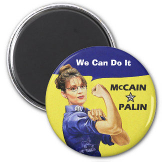 """change is coming"" Mccain / Palin Republican Party 6 Cm Round Magnet"