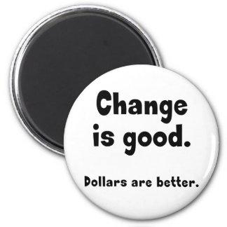 Change is Good 6 Cm Round Magnet