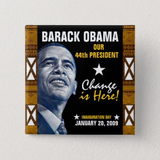 Change is Here! (Kente) 15 Cm Square Badge