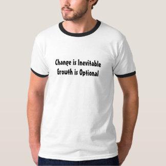 Change is Inevitable Growth is Optional Ringer Tee