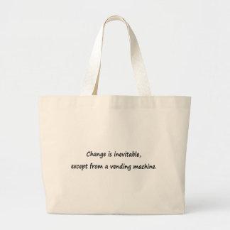 Change is inevitable jumbo tote bag
