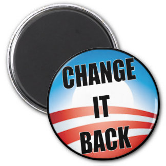 Change It Back 6 Cm Round Magnet