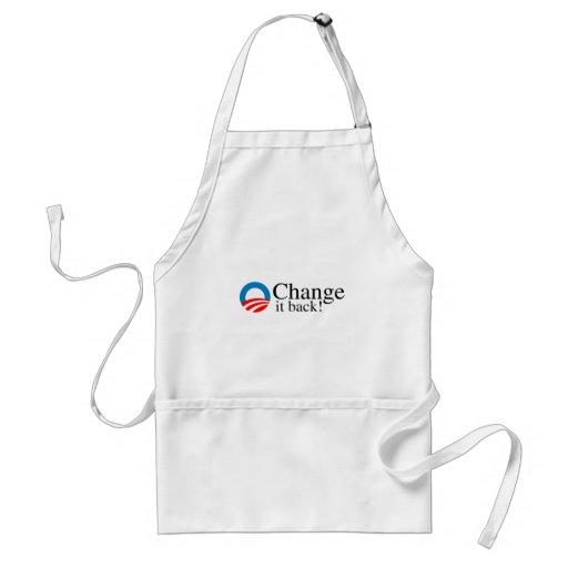 Change it back apron