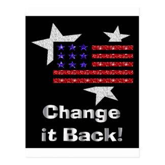 Change it back flag postcard