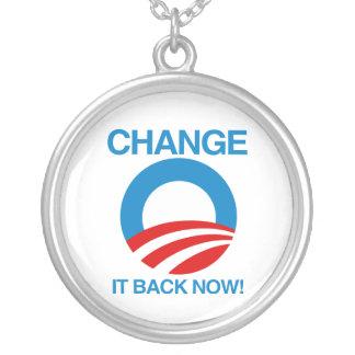 CHANGE IT BACK NOW ROUND PENDANT NECKLACE