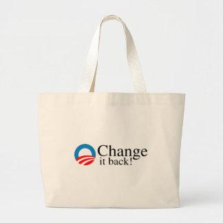 Change it back jumbo tote bag