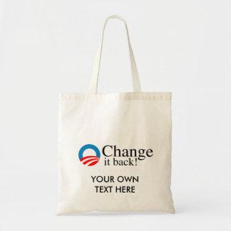 Change it back budget tote bag