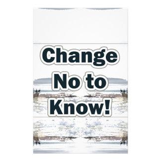 change no to know zazzle customised stationery