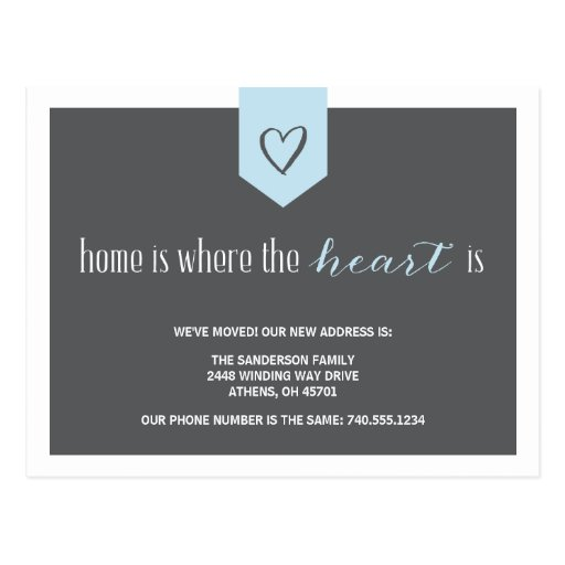 Change of Address Announcement Postcards