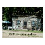Change of Address Card: Log Cabin Postcards