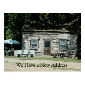 Change of Address Card Log Cabin Postcards